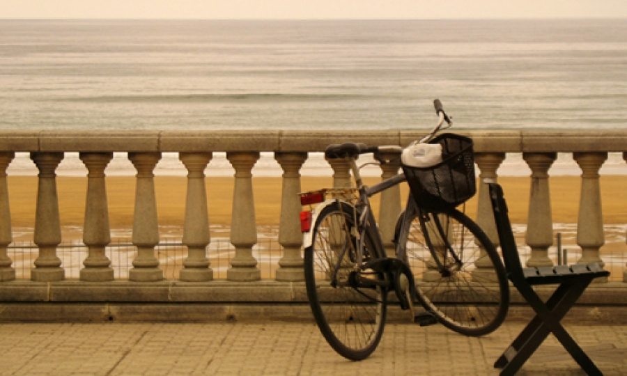 Cycling On Beach